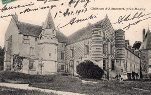 Magny Alincourt Balloon Flight Aeronaut Leblanc signed Postcard 1907