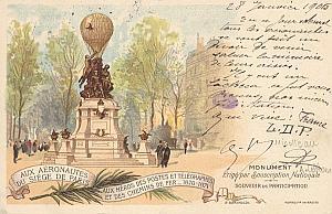 Ballooning Air 1906 Paris Nicolleau Leblanc signed PC