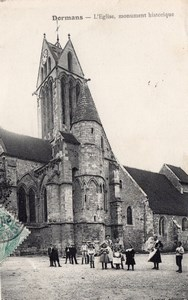 Dormans Church Balloon Flight Aeronaut Nicolleau signed Postcard 1908