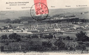 Epernay Balloon Flight Aeronaut Bastier signed Postcard 1906
