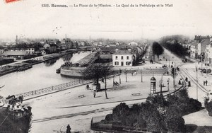 Rennes Place de la Mission Balloon Flight Aeronaut Bastier signed Postcard 1906