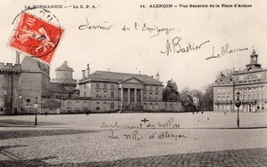 Alencon Balloon Flight Aeronaut Bastier signed Postcard 1906