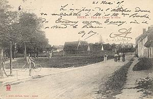 Landing Air Ship 1905 Toury Nicolleau Leblanc signed PC