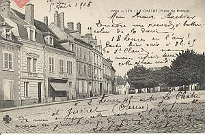 Landing Air Ship 1906 La Chatre Leblanc Team signed PC