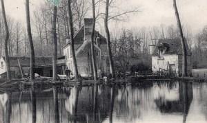 Houdancourt Moulin Masson Balloon Flight Aeronaut Girardon signed Postcard 1906