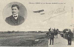 Betheny Early French Aviation Gibert signed PC 1909
