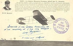 Dijon Early French Aviation Renaux signed PC 1910