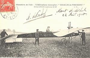 Mont St Michel Early Aviation Pischoff signed PC 1910