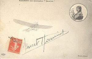 Early French Aviation Marcel Hanriot Plane signed 1910