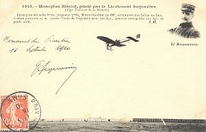 Picardie Early French Aviation Acquaviva signed PC 1910