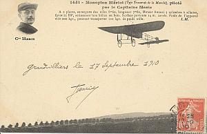 Grandvillier Early French Aviation Marie signed PC 1910