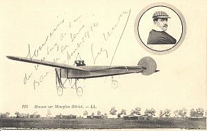 Paris Early French Aviation Leon Morane signed PC 1910