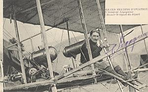 Angers Early French Aviation Legagneux signed PC 1910