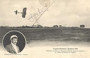 Cognac Early French Aviation Gibert signed PC 1910