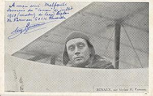 Caen Early French Aviation Renaux signed PC 1910