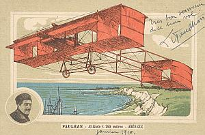 Los Angeles Early US Aviation Paulhan signed PC 1910