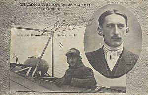 Chalon Early French Aviation Legagneux signed PC 1911