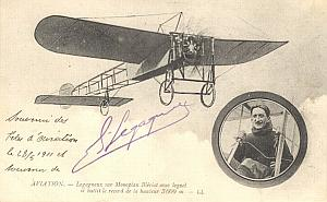 Lyon Early French Aviation Legagneux signed PC 1911