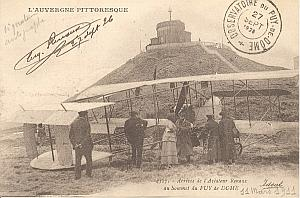 Puy de Dome Early French Aviation Renaux signed PC 1911