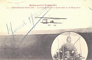 Pontarlier Early French Aviation Hanriot signed PC 1911