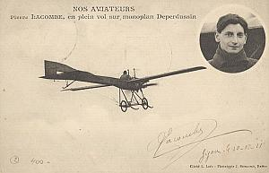 Gigon Early Spanish Aviation Lacombe signed PC 1911