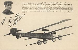 Early French Aviation Goffin Triplan Astra PC 1911