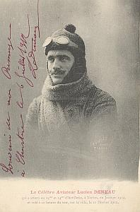 Chartres Early French Aviation Deneau signed PC 1912