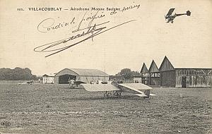 Villacoublay Morane Early French Aviation signed PC 191