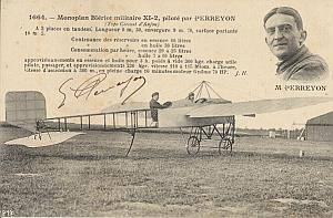 Anjou Early French Aviation Perreyon signed PC 1912