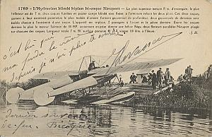 Hydroplane Early French Aviation Levasseur signed 1916