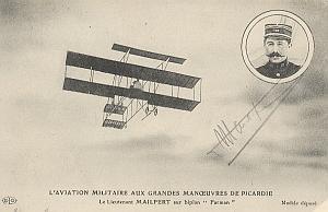 Farman Early French Aviation Mailfert signed PC 1912