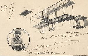 Le Havre Early French Aviation Martinet signed PC 1911