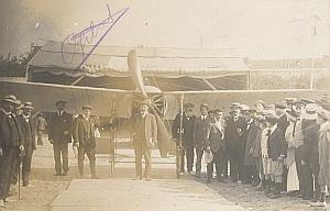 Royan Early French Aviation Gibert signed PC Photo 1911