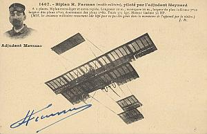Meynard Early French Aviation Farman signed PC 1911