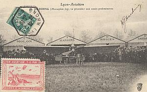 Lyon Early French Aviation Jap Harding signed PC 1910