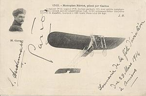 Amiens Early French Aviation Garros signed PC 1914