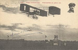 Orly Paris Early French Aviation Paulhan signed PC 1909