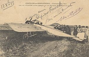Chatillon Early French Aviation Biot signed PC 1913
