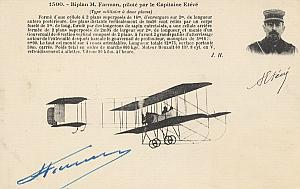 Eteve Early French Aviation Farman signed PC 1911