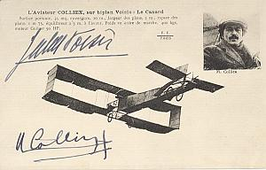 Early French Aviation Voisin Colliex signed PC 1911