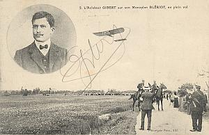 Blriot Early French Aviation Gibert signed PC 1910