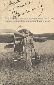 St Dizier Early Aviation Bielovucic signed PC 1913