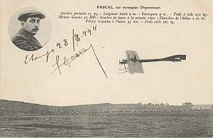 Etampes Early French Aviation Pascal signed PC 1910