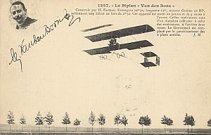 Rouen Early French Aviation Van den Born signed PC 1910