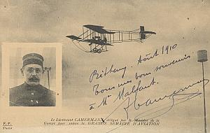Reims Early French Aviation Camermann signed PC 1910