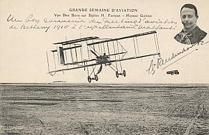 Reims Early French Aviation Van Den Born signed PC 1910
