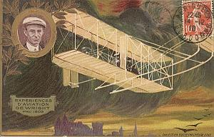 Pau Wilbur Wright Flyer Early Aviation PC 1909