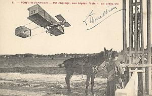 Orly Early French Aviation Louis Paulhan Signed PC 1909