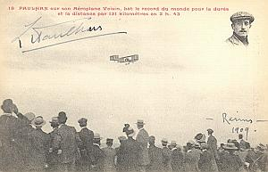 Betheny Early french Aviation Paulhan Signed PC 1909