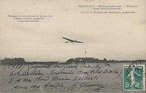 Bordeaux Early French Aviation Thomas Signed PC 1910